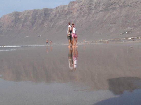 Playa Famara: riflessi a Famara