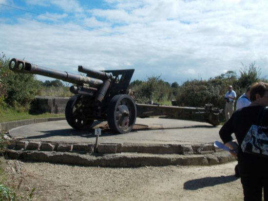 Batterie de Maisy : One of the guns on display