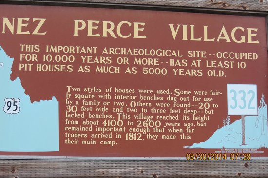 Nez Perce National Historical Park: One of the many interpretive signs, & for some reason It cuts it off when uploading to Trip Advi