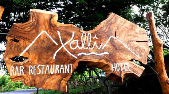 Xalli Ometepe Beach Hotel: Xalli's sign