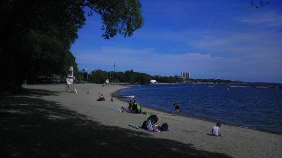Toronto Beach: Vista da praia de Toronto, em uma das saidas do High Park