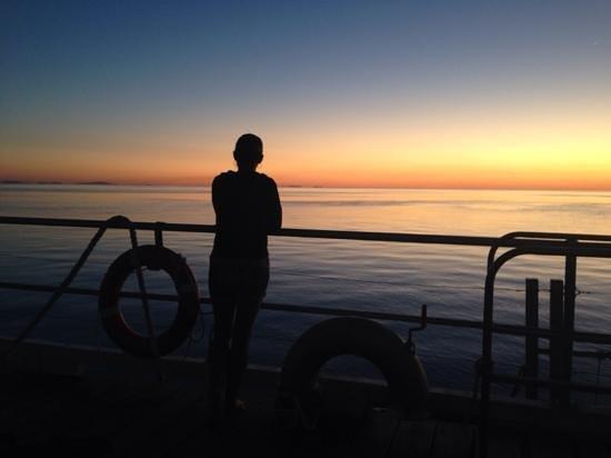 Cruise Whitsundays - Day Cruises : sunset on the edge of the reef