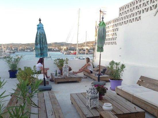 La Dama d'Eivissa: The rooftop terrace