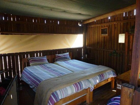 Mosetlha Bush Camp & Eco Lodge: Interno del bungalow