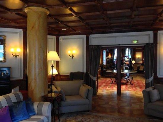 Grand Hôtel des Alpes : Comfortable common area