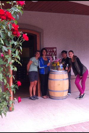 Arrowleaf Cellars : Spencer was nice to take this picture with us