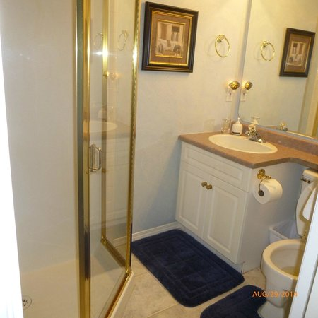 Cedar Heights Bed and Breakfast : En Suite Bathroom for Paris Room - no bathtub