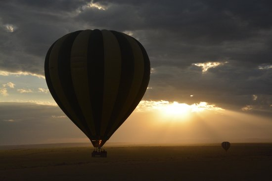 Hot Air Safaris: Flying with the eagles at sunrise over the Mara.