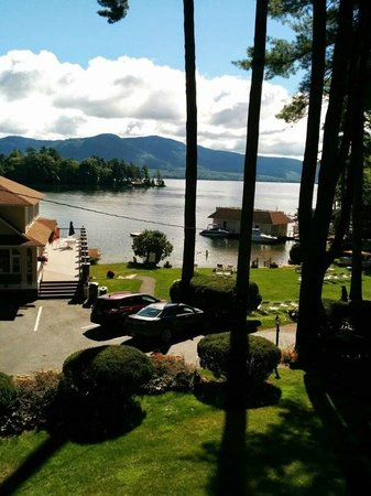 Chelka Lodge on Lake George: View from the front door