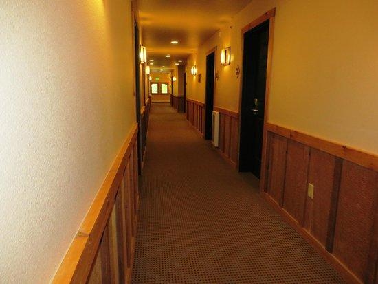 Mt. McKinley Princess Wilderness Lodge: El pasillo hacia la habitación.