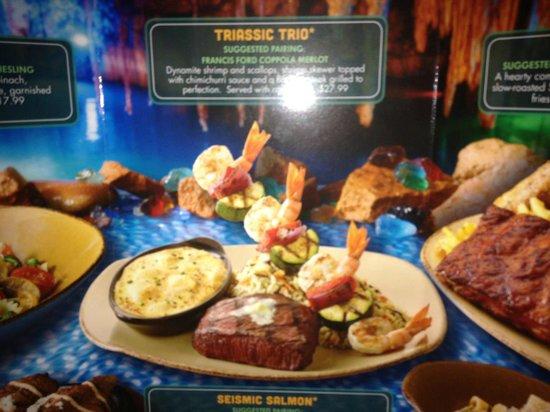 Cardapio picture of t rex orlando tripadvisor for Restaurant t rex