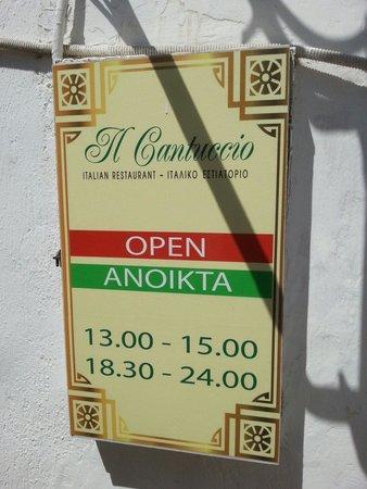 Il Cantuccio: Restaurant