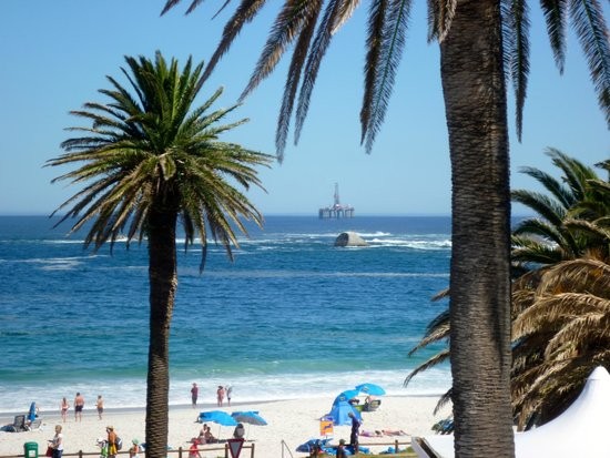 The Bay Hotel: Oil rig passing the cost
