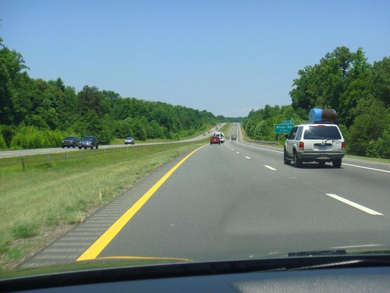 The freeway from Charlotte to Biltmore Estate