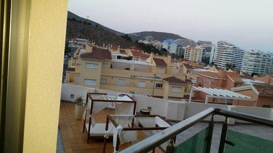 Hotel Cullera Holiday: Vistas desde el balcón de la piscina