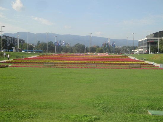 National and University Library: panoram view  of all the flower row