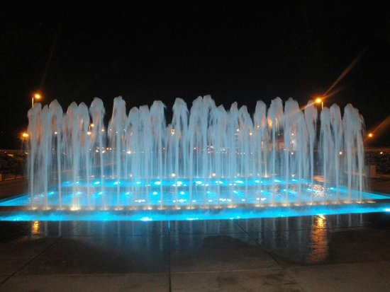 National and University Library: blue fountain