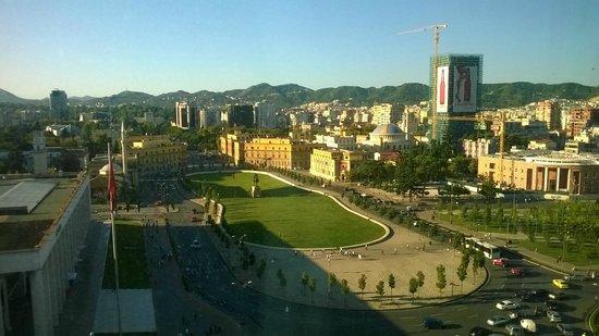 Tirana International Hotel & Conference Centre: Vista straordinaria dal 10^ piano