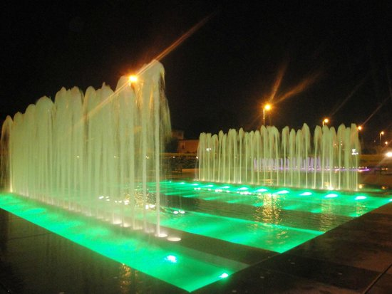 National and University Library : green fountain