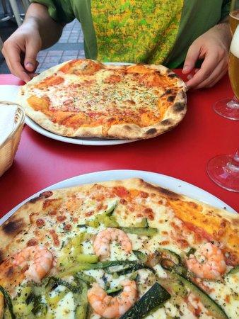 Little Italy : margarita & shrimps