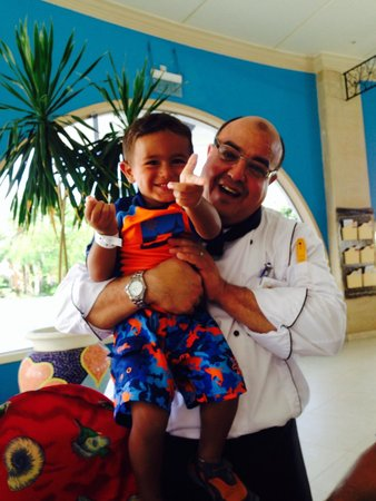 Nuweiba Coral Resort: Chef Ramsy with Baby Al