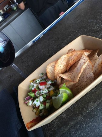 Kimpton Solamar Hotel: Ceviche for only $5 bucks poolside.