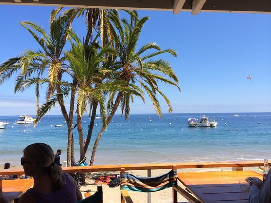 Descanso Beach Club: the view from the bar