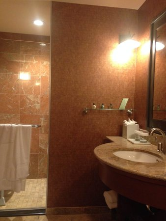 Seneca Allegany Resort & Casino : Very large bathroom - photo doesn't do it justice.