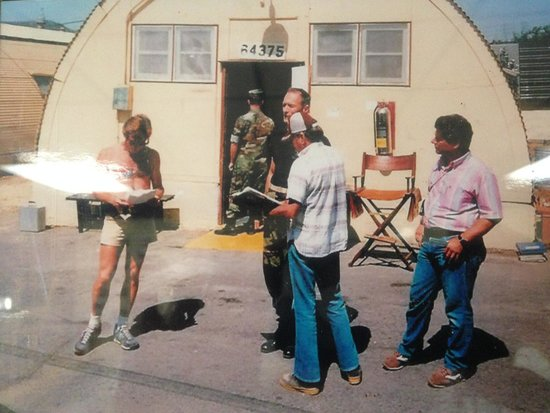 Camp Pendleton, Kalifornien: (1986, Camp Talega) Clint Eastwood filming on set