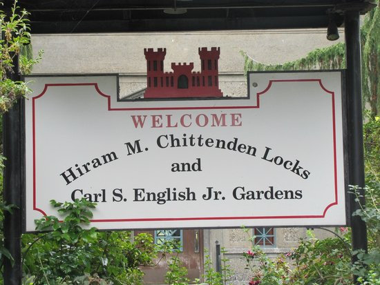Hiram M. Chittenden Locks: Welcome sign