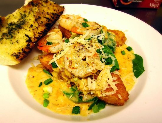 The Root Trackside: shrimp and grits