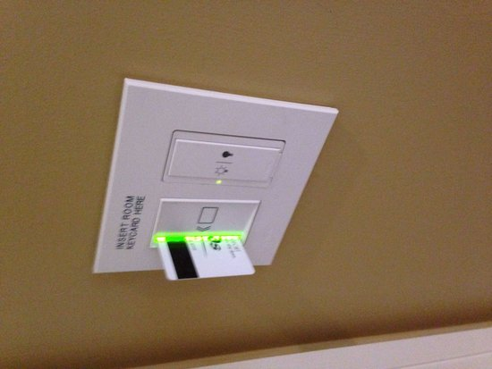 Sands Casino Resort: Use your key card to keep the lights and air-conditioning on