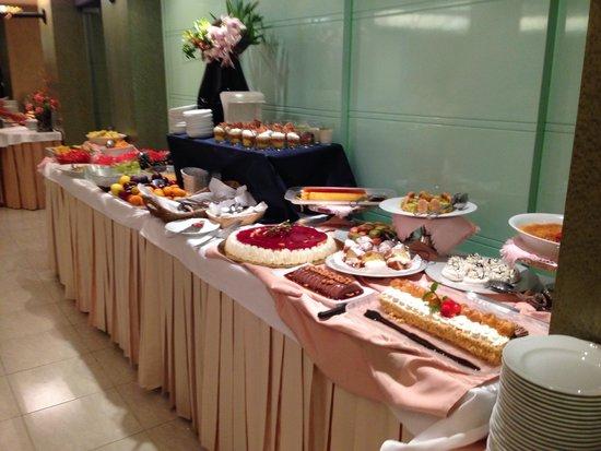 Gran Bretagna Hotel Riccione: Il buffet dei dolci....