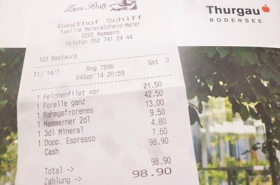 Mammern, Schweiz: High quality means a rather pricey bill