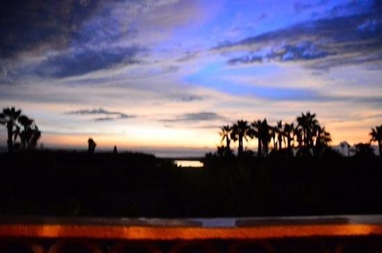 cena sul terrazzo della Posada La Poza