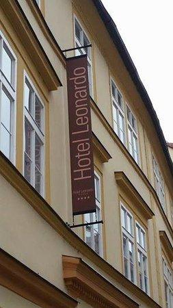 Hotel Leonardo Prague: The front signage of the hotel