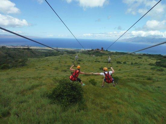 Kapalua Ziplines: Honeymoon Ziplining!!!