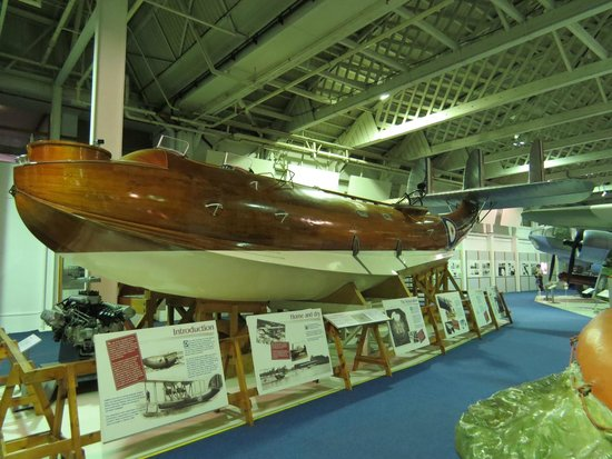 The Royal Air Force Museum London: beautiful timber skinned flying boat