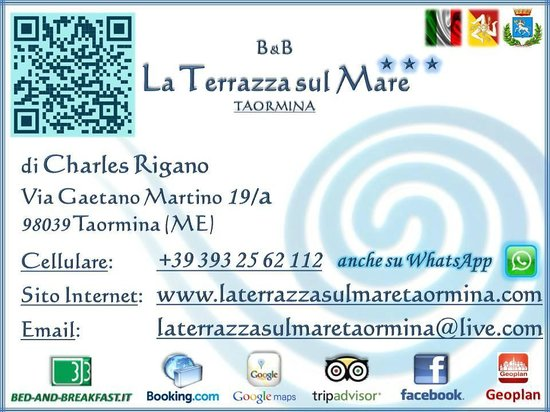 New Business Datas - Picture of B&B La Terrazza sul Mare, Taormina ...