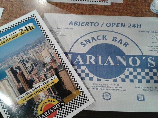 Flash Hotel Benidorm : Como recomendaba, visitar Mariano's!!!