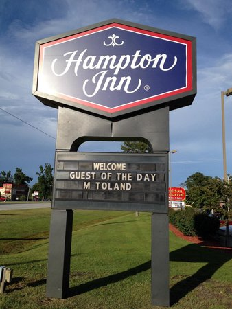 Hampton Inn New Bern: What a nice way to welcome me