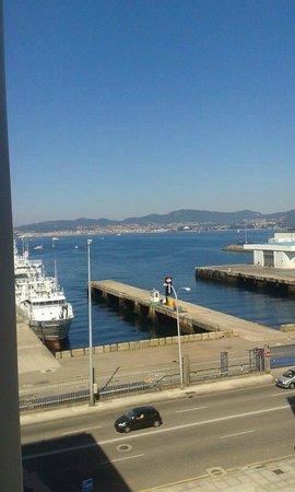 Hotel Eurostars Mar de Vigo: A pequena vista de um quarto