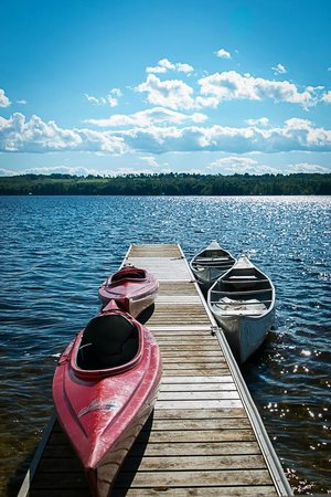 Wolf Cove Inn : kayaks and canoes