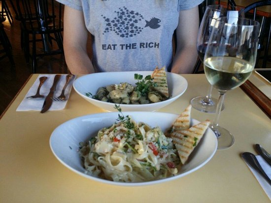 Hilary's Cheese Cowichan Bay: Pasta and wine night, 15 bucks every Thursday evening.