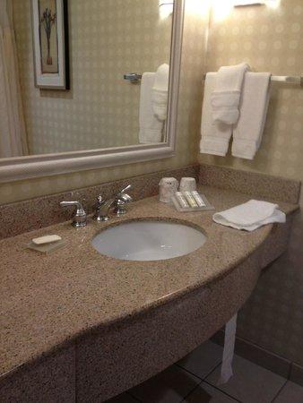 Hilton Garden Inn Mystic Groton : Hilton Garden Inn Groton, bathroom