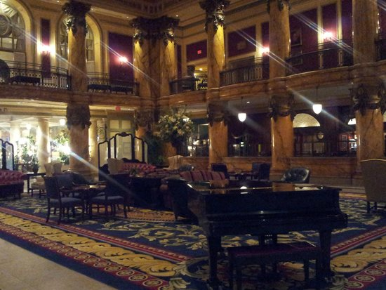 The Jefferson Hotel : hall with piano