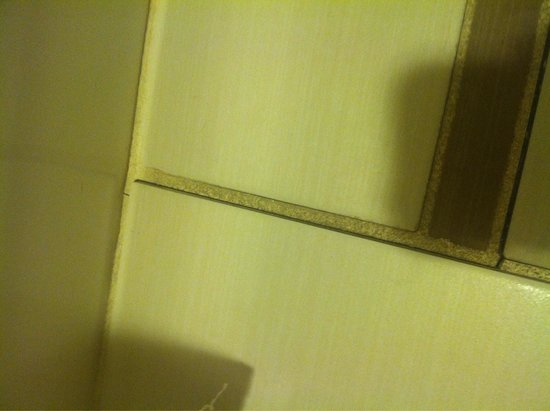Fairfield Inn & Suites Jackson Airport: Loose tiles in the bathroom. The would pull up. Popped when stepped on. Grout cracked, floor une