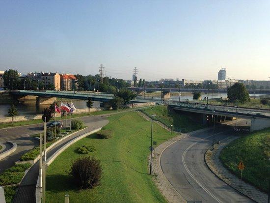 Qubus Hotel Krakow : View from junior suite room