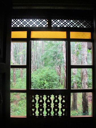 Sunset Valley Holiday Houses: Through window to rubber plantation (rear)