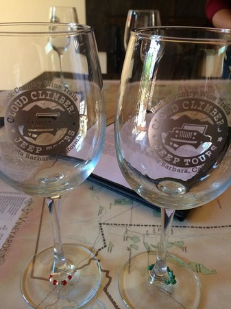 Cloud Climbers Jeep Tours: Our very own Wine glasses!